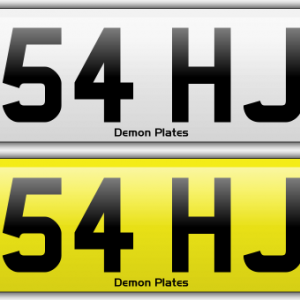 54hj-numberplate